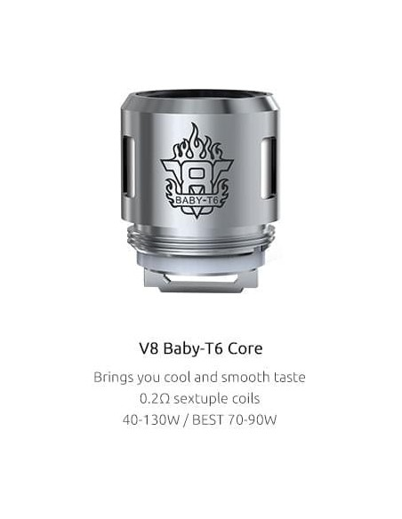 Smok - V8 Baby-T6 Verdampferköpfe x5