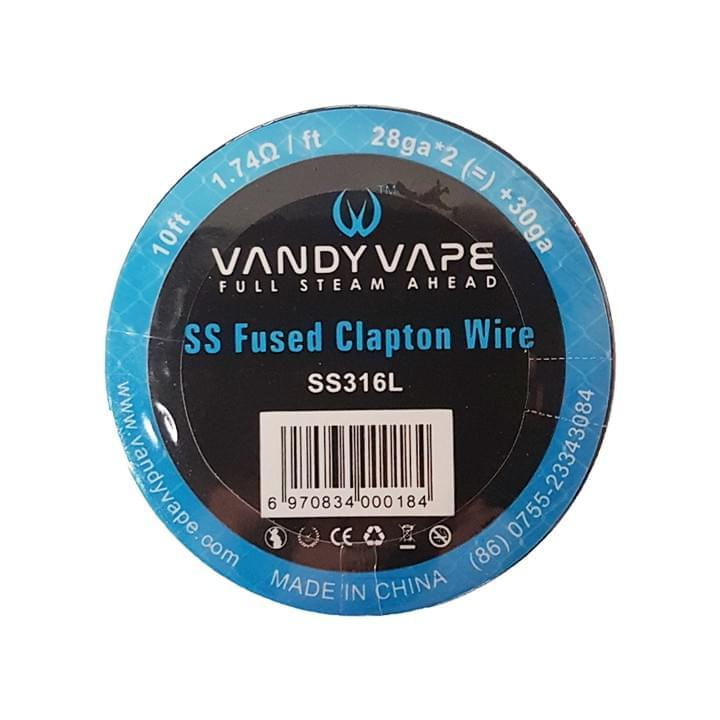 Vandyvape - Widerstandsdraht ss Fused Clapton 28ga