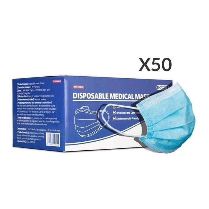 Masques médicaux jetables FDA/CE x50
