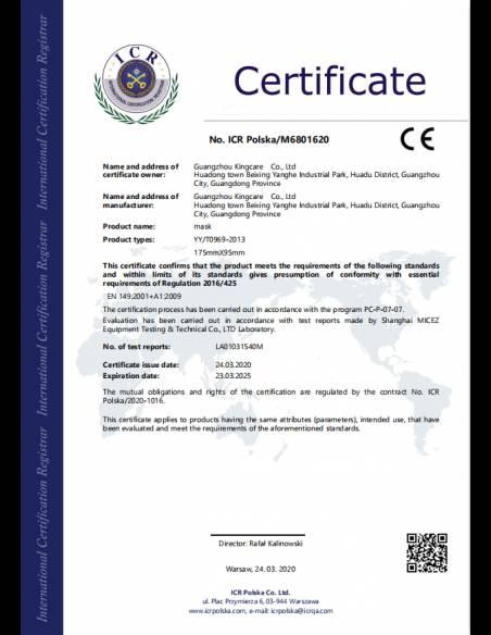 Masques médicaux jetables FDA/CE x10